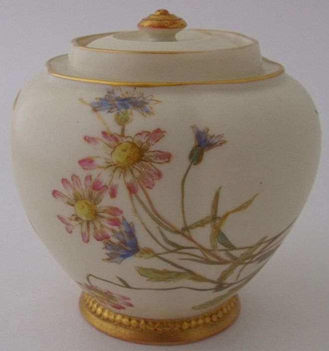 Royal Worcester Lidded Jar Shape Number 1314